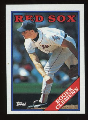 Roger Clemens 1988 Topps # 70 Pitcher Boston Red Sox