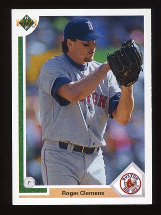 Roger Clemens 1991 Upper Deck # 655 Pitcher Boston Red Sox