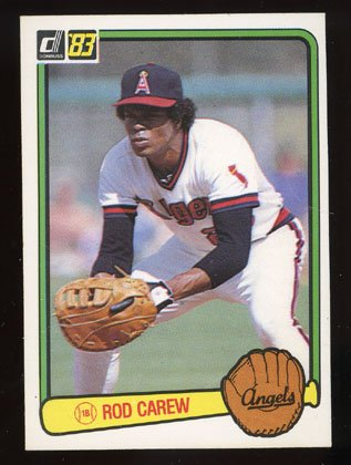 Rod Carew 1983 Donruss # 90 First Base Angels