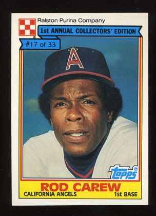 Rod Carew 1984 Ralston Purina # 17 of 33
