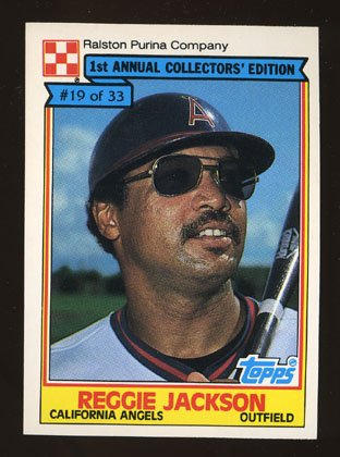 Reggie Jackson 1984 Ralston Purina # 19 of 33 Outfield California Angels HOF