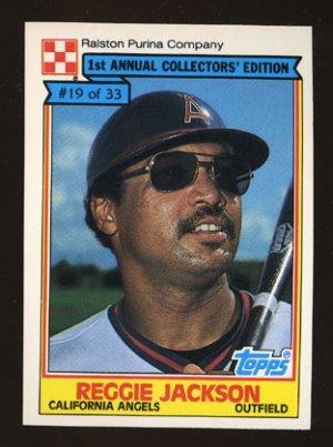 Reggie Jackson 1984 Ralston Purina # 19 of 33 Outfield California Angels HOF
