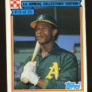 Rickey Henderson 1984 Ralston Purina # 15 Outfield Oakland Athletics HOF