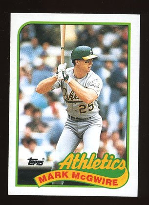 Mark McGwire 1989 Topps # 70 First Base Oakland Athletics