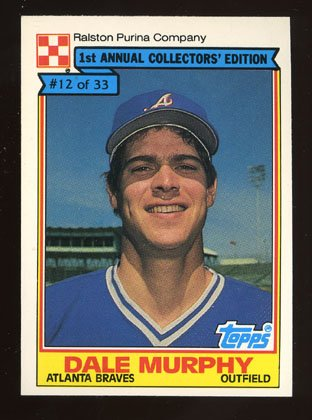 Dale Murphy 1984 Ralston Purina # 12 of 33 Outfield Atlanta Braves