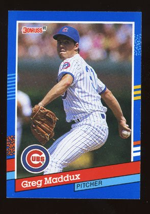 Greg Maddux 1991 Donruss # 374 Pitcher Chicago Cubs