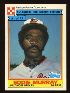 Eddie Murray 1984 Ralston Purina # 1 First Base Baltimore Orioles
