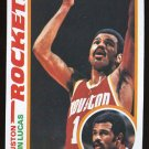 John Lucas 1978-79 Topps # 106 Guard Houston Rockets