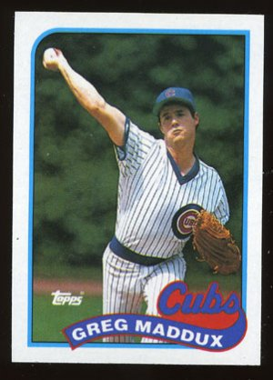 Greg Maddux 1989 Topps # 240 Pitcher Chicago Cubs