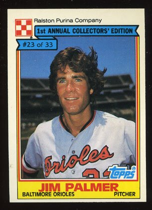 Jim Palmer 1984 Ralston Purina # 23 Pitcher Baltimore Orioles
