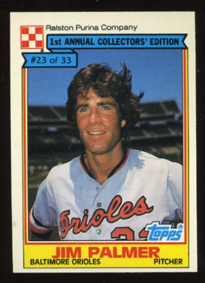 Jim Palmer 1984 Ralston Purina # 23 Pitcher Baltimore Orioles