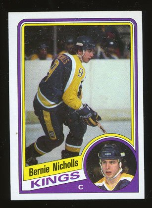 Bernie Nicholls 1984-85 Topps # 67 Center Kings