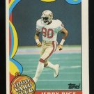 Jerry Rice 1989 Topps Insert 1000 Yard Club # 5 San Francisco 49ers