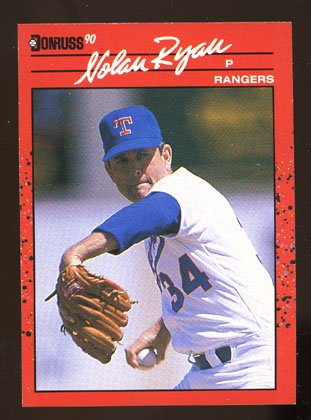 Nolan Ryan 1990 Donruss # 166 Pitcher Texas Rangers
