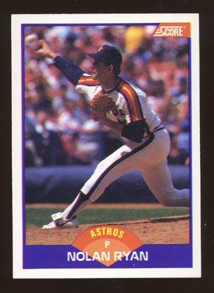 Nolan Ryan 1989 Score # 300 Pitcher Houston Astros