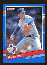 Nolan Ryan 1991 Donruss # 89 Pitcher Texas Rangers