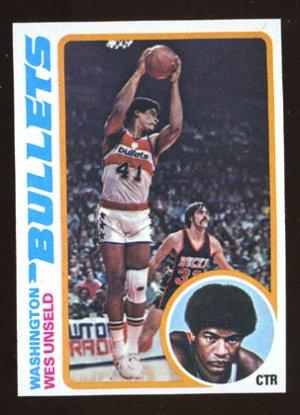 Wes Unseld 1978-79 Topps # 7 Center Washington Bullets
