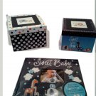 "Navy Blue ""Sweet Baby"" Baby's First Memory Book"