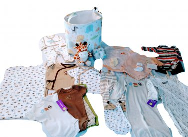 Carter's Safari Clothing Line Hamper Set