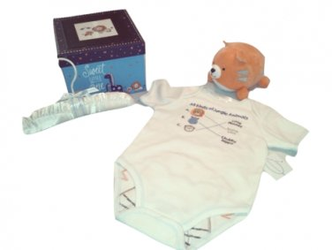First Moments 3-6 Months Safari Clothing Photo Box Set