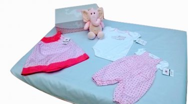 Carter's Pink Little Collection Elephant Clothing Gift Box Set