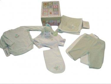 "Carter's Newborn Mint Green ""Sweet Baby"" Star Clothing Gift Box Set"