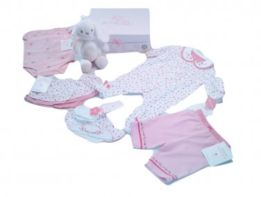 Carter's 3 Months Pink Bunny Clothing Gift Box Set