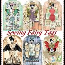 Vintage Sewing Fairy Tags - Digital Download ONLY