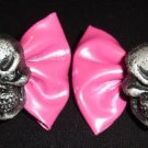 Skull Hair Bows! NEW Barrettes for Spooky Dolly Lolita Goth living dead girl Halloween