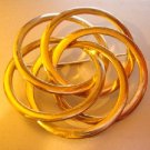 Vintage spiral twisted rings Gold tone Pin 4everyoung