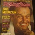 Rolling Stone Magazine Jack Nicholson Interview 1984
