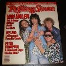 Van Halen Rolling Stone Mag July 1986 Peter Frampton Jay Leno
