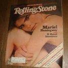 Rolling Stone Magazine Mariel Hemingway 1982
