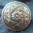 12 vintage metal flower buttons