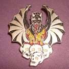 Devil Demon Heavy Metal Skulls Pin