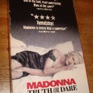 Madonna Truth Or Dare VHS Video RATED R
