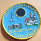 Last Total Solar Eclipse of the Millennium August 1999 Patch