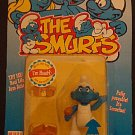 The Smurfs Cartoon  Handy Smurf Figure w/Real Life Arm Action fully poseableNew Sealed 1996