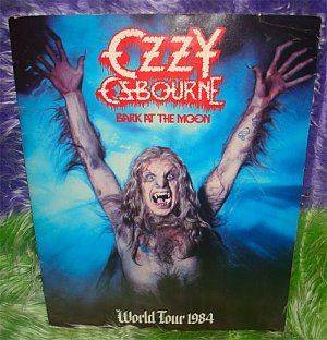 Official OZZY OSBOURNE 1984 BARK AT THE MOON Concert TOUR PROGRAM TourBOOK 80s