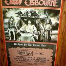 RARE Vintage Ozzy Osbourne Official Concert Tour Venue Poster No Rest For The Wicked July 4th