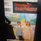 Wizard Of Oz Childrens Costume Pattern for Dorthy- Wicked Witch - Glinda . Uncut