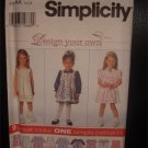 Simplicity Adorable 9 Great Looks!  Toddler Dress Sewing Pattern 7398 Size AA 1/2,1,2