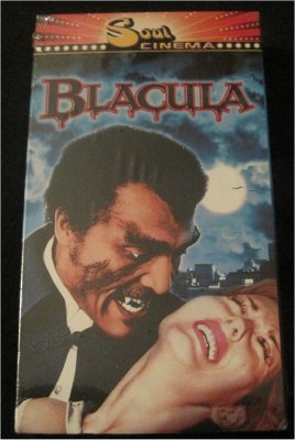 BLACULA  Cult Classic Vhs Video SEALED NEW!  Dracula Vampire   Classic Blaxploitation