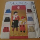 M4576 McCall Pattern 6 Great Looks  -Childs Girls Skorts (skirt shorts ) / Girls Size 3-4-5-6