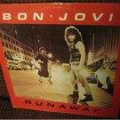 "BON JOVI Runaway RARE original 1984 Vertigo 3-track 12"" vinyl single"