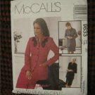McCalls Pattern 9633  Lined Jacket & Lined Skirt in Two Lengths Size 20 NEW