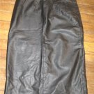Long Black Genuine Leather Skirt  Size 9/10  (High Waisted)