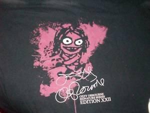 9ec1e6b45447 OZZY OSBOURNE Signature Series Edition XXII Shirt Hard Rock Cafe New York  Size M