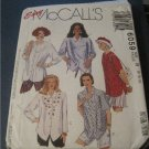 McCall's Easy Sewing Pattern - Misses Shirts long or short sleeve front buttoned 8,10,12