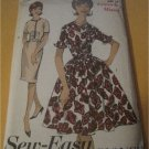 Vintage 1950s Rockabilly Advance 2969 Rare Retro Sewing Pattern Misses Dress with Two Skirts Size 12